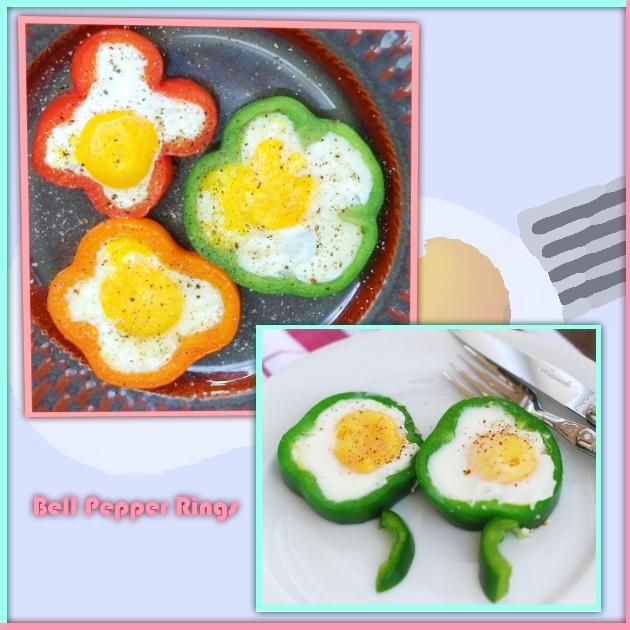 Χρωματιστό πρωινό με αυγά και πιπεριές