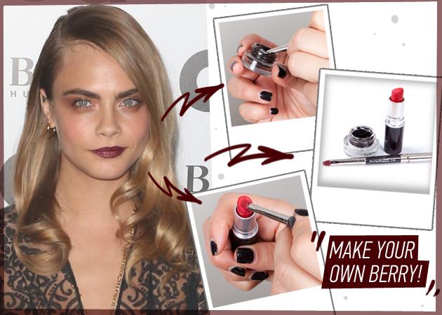Το berry κραγιόν είναι τάση! Πώς να το φτιάξεις μόνη σου με… eyeliner!