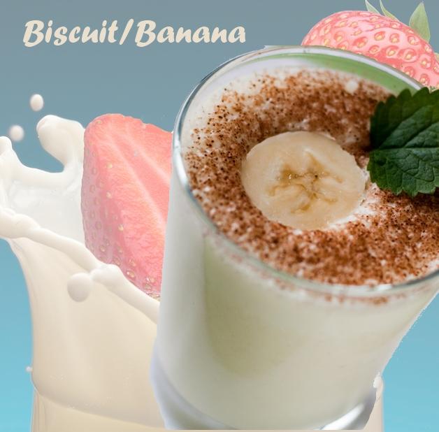 4   Smoothie Μπισκότο/Μπανάνα