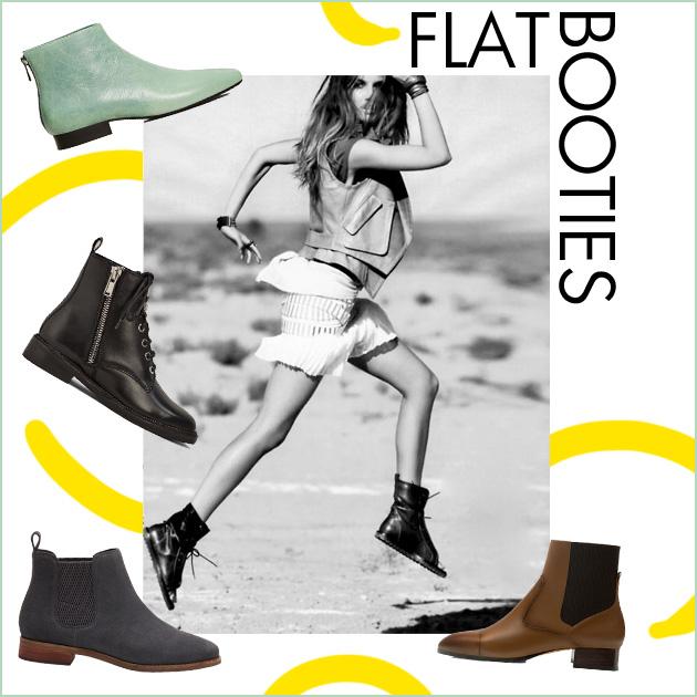 1 | Flat booties