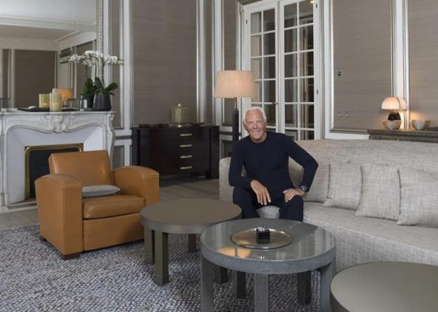 Το υπερπολυτελές διαμέρισμα του Georgio Armani στο Παρίσι