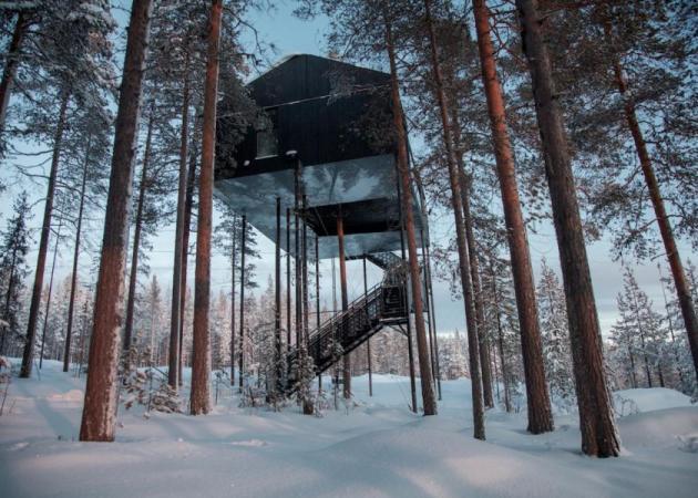 Η πολυτελής σουίτα που αιωρείται στο αρκτικό δάσος | tlife.gr