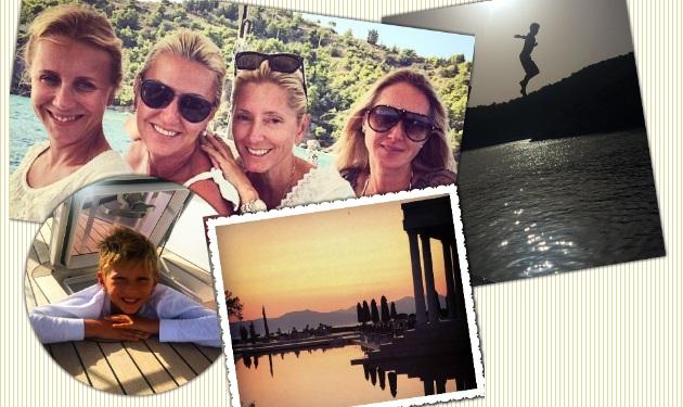 Marie Chantal: Oι διακοπές με τα παιδιά της στην Ελλάδα! Φωτογραφίες