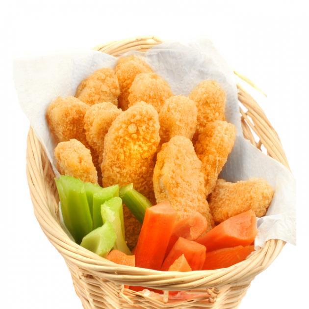 4   Chicken fingers με κρούστα από αμύγδαλο