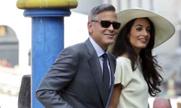 George Clooney – Amal Alamuddin: Παντρεύτηκαν και με πολιτικό γάμο στη Βενετία!