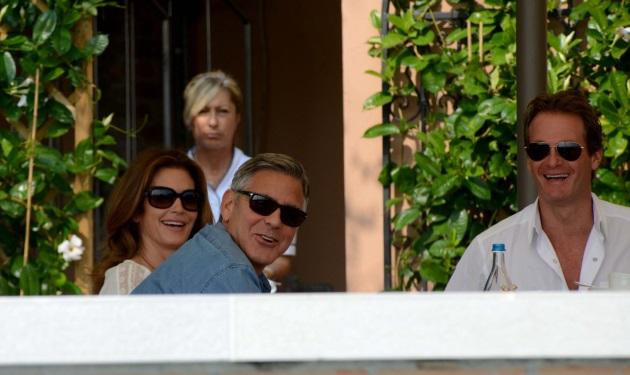 George Clooney: Πρωινό μαζί με τον Cindy Crowford και τον κουμπάρο του! Φωτογραφίες