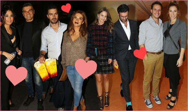 Ερωτευμένα  ζευγάρια της ελληνικής showbiz στον κινηματογράφο!