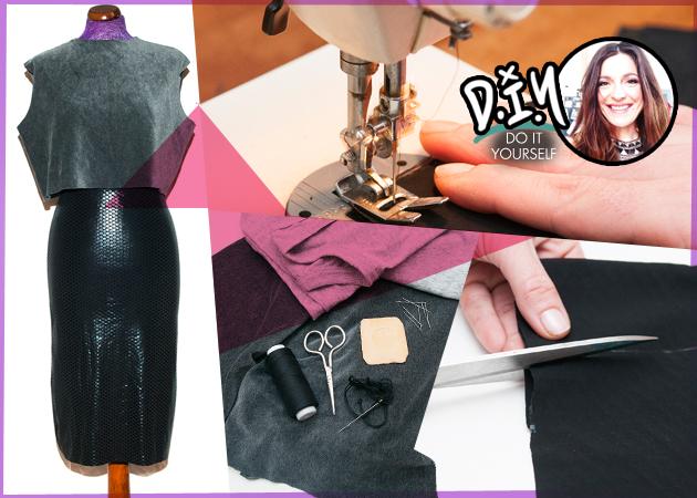 DIY: H Πόπη Αναστούλη σου δείχνει πως να φτιάξεις μόνη σου μια pencil φούστα και ένα crop-top! | tlife.gr