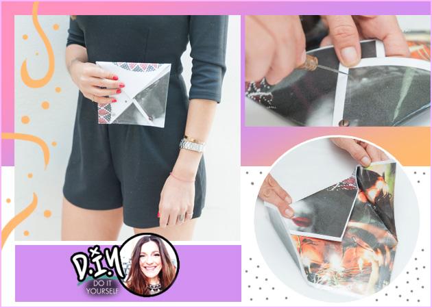 Κάν'το μόνη σου: Πως να φτιάξεις ένα clutch από πλαστικοποιημένο χαρτί! | tlife.gr