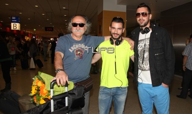 Eurovision 2013: Θερμή υποδοχή για Αγάθωνα και Koza Mostra στο αεροδρόμιο!
