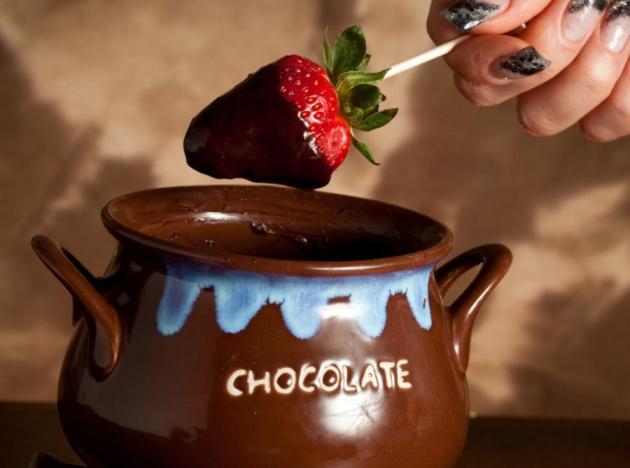 Fondue σοκολάτας!