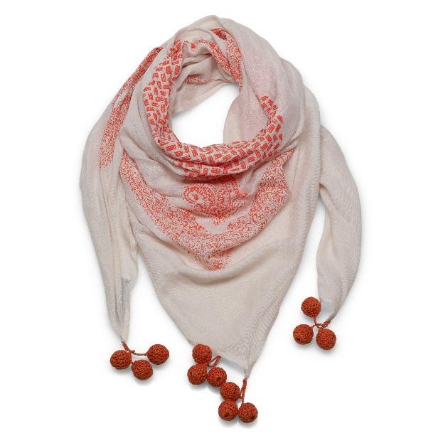 10 | Φουλάρι σε κόκκινο και άσπρο Shop & Trade