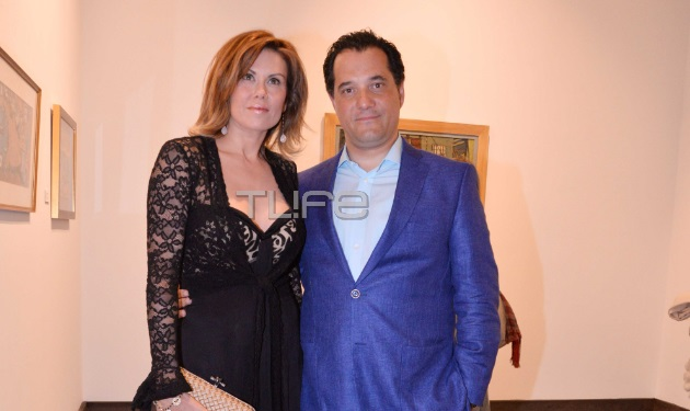 Ευγενία Μανωλίδου – Άδωνις Γεωργιάδης: Μαζί στα εγκαίνια της Γκαλερί Ευριπίδη! Φωτογραφίες | tlife.gr