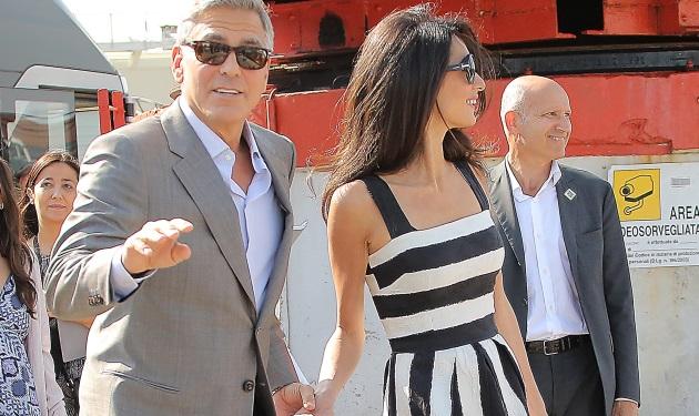 George Clooney – Amal Alamuddin: Τι κάνουν λίγες ώρες πριν από τον γάμο τους στη Βενετία!