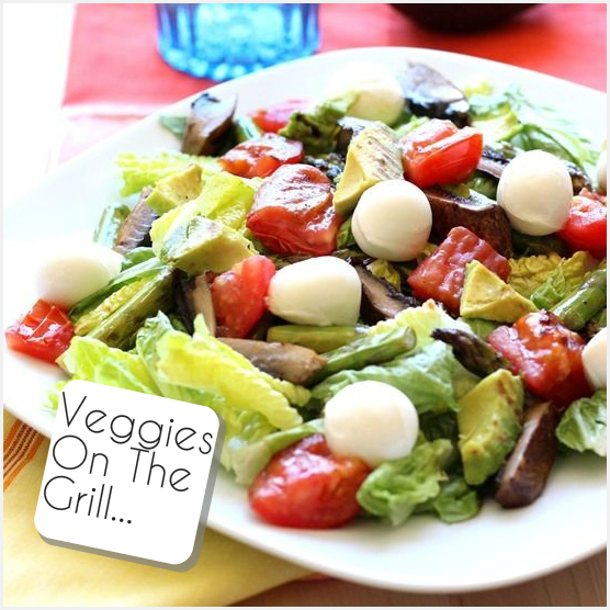 Σαλάτα με ψητά λαχανικά και μοτσαρέλα