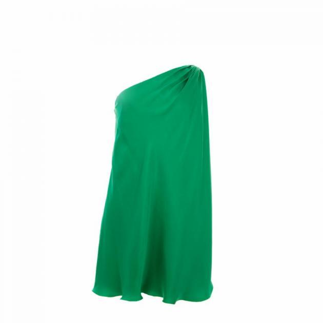 3 | Πράσινο φόρεμα από μετάξι Ηalston Heritage