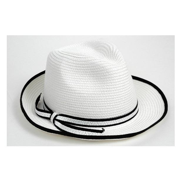 6 | Άσπρο ψάθινο καπέλο Doca