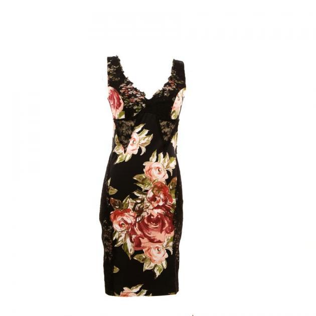 2 | Μαύρο floral φόρεμα if-ganas