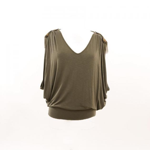 4 | Χακί μπλούζα με επωμίδες if-ganas
