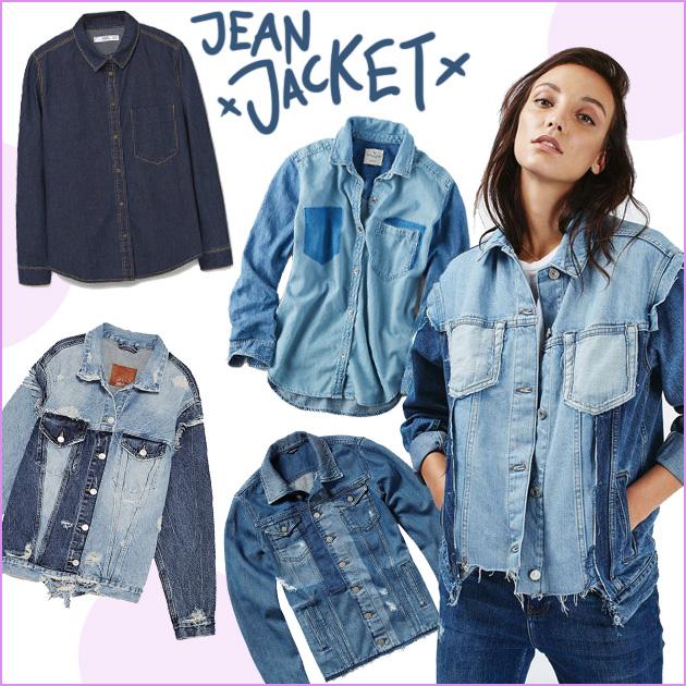 1   Jean jacket & πουκάμισα