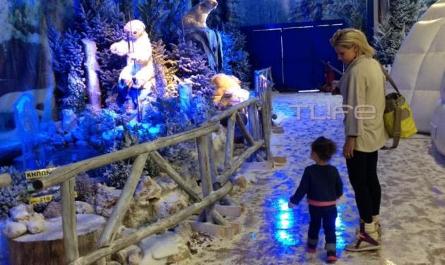 Κ. Καραβάτου: Χριστουγεννιάτικη βόλτα και παιχνίδι με την Αέλια! | tlife.gr