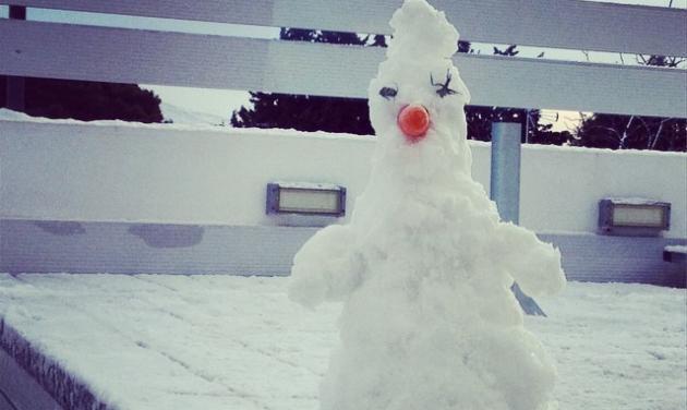 Ποιας παρουσιάστριας ο γιος έφτιαξε αυτό τον χιονάνθρωπο;