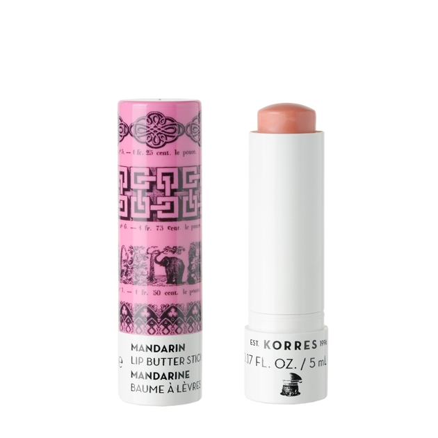 10   Korres Lip Butter Stick Pink με έλαιο από Μανταρίνι