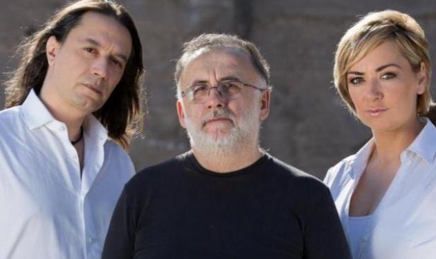 Θάνος Μικρούτσικος, Γιάννης Κότσιρας και Ρίτα Αντωνοπούλου στο Βεάκειο Θέατρο