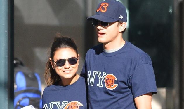 Το τέλειο ζευγάρι!  Ο A. Kutcher και η M. Kunis πήγαν βόλτα φορώντας… τα ίδια ρούχα! | tlife.gr