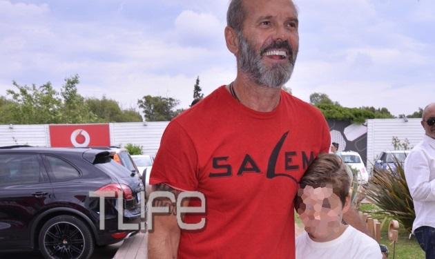 Πέτρος Κωστόπουλος: Στο πλευρό της Τζένης Μπαλατσινού μαζί με το γιο τους!