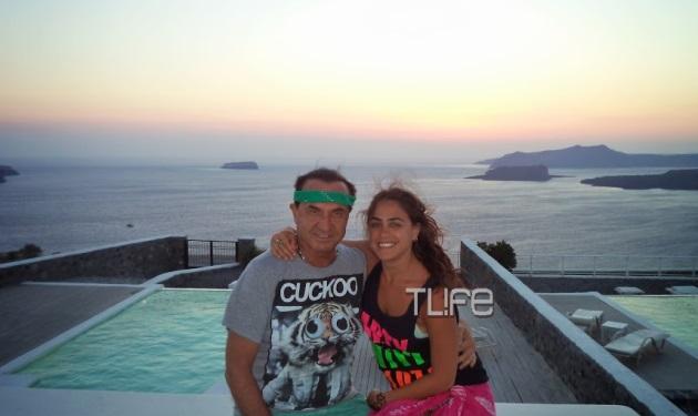 Λ. Πανταζής: Διακοπές στη Σαντορίνη με την κόρη του!