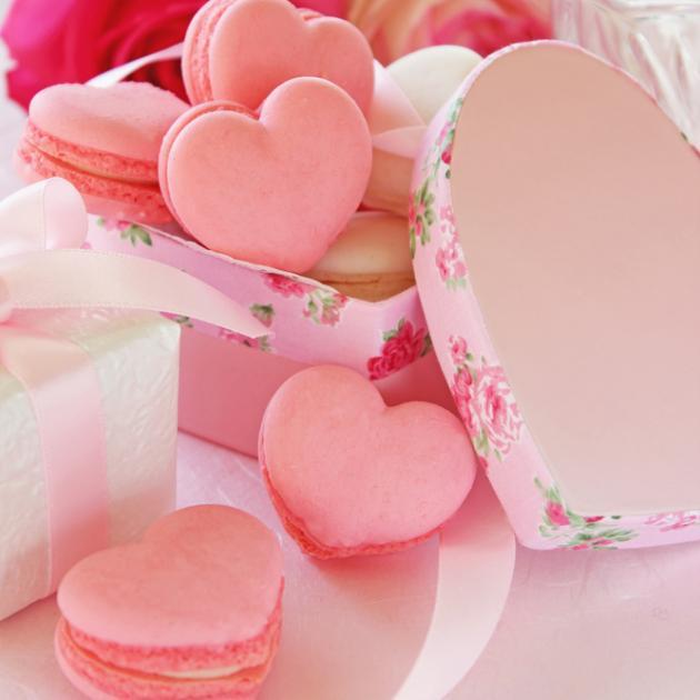 Καρδούλες Macarons