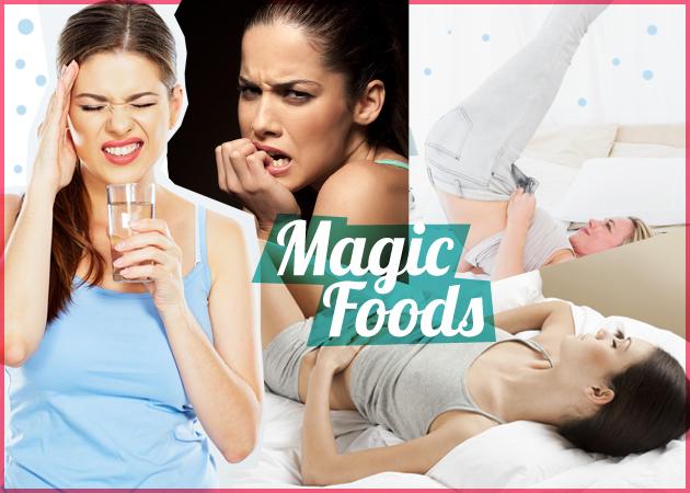 Πόνοι περιόδου, πονοκέφαλος, αϋπνία, φούσκωμα… Ποιες τροφές μπορούν να σε βοηθήσουν;