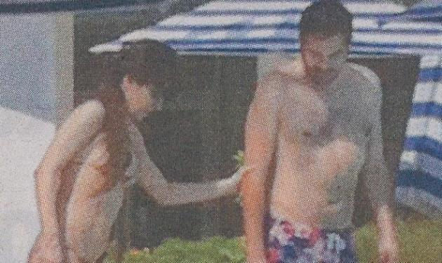 Δ. Ματσούκα-Φ. Βαλλάτος: Τρυφερές αγκαλιές μέσα στην πισίνα! | tlife.gr