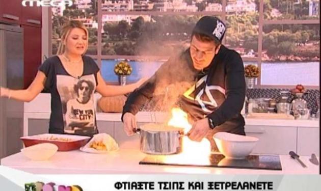 Πήρε φωτιά η κουζίνα του «Πρωινό mou»!   tlife.gr
