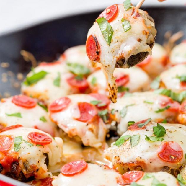 Γεμιστά μανιτάρια… πίτσα!