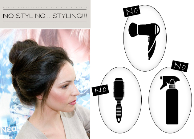 The no styling… styling! Πώς να βγεις καλοχτενισμένη χωρίς χτένα και πιστολάκι!