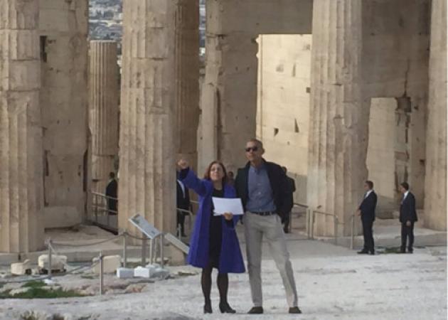 Ομπάμα στην Αθήνα Live: Έφτασε στην Ακρόπολη ο Αμερικανός πρόεδρος