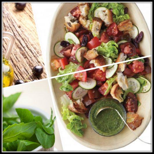 Σαλάτα με ντομάτα, μαρούλι και ελιόψωμο | tlife.gr