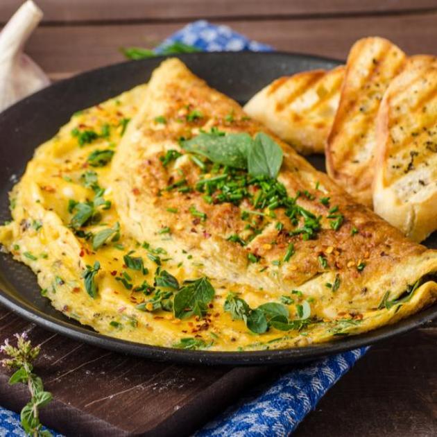 Ομελέτα με μοτσαρέλα και μυρωδικά