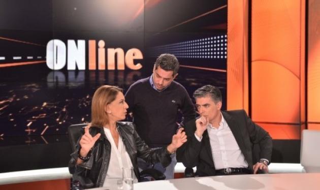 Όλγα Τρέμη – Νίκος Ευαγγελάτος: Στα παρασκήνια της εκπομπής «OΝline»   tlife.gr