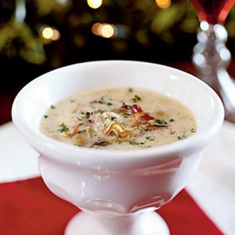 Σούπα από μύδια και άγριο ρύζι