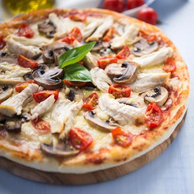Pizza BBQ με κοτόπουλο