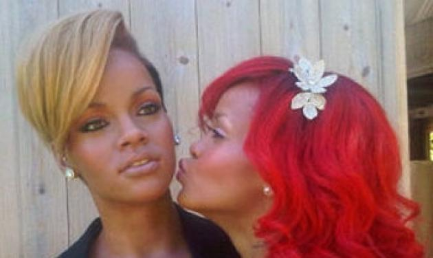 Η  Rihanna  φιλάει τον εαυτό της!   tlife.gr