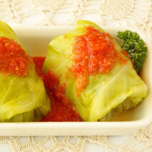 Ρολάκια λάχανο με νηστίσιμη γέμιση