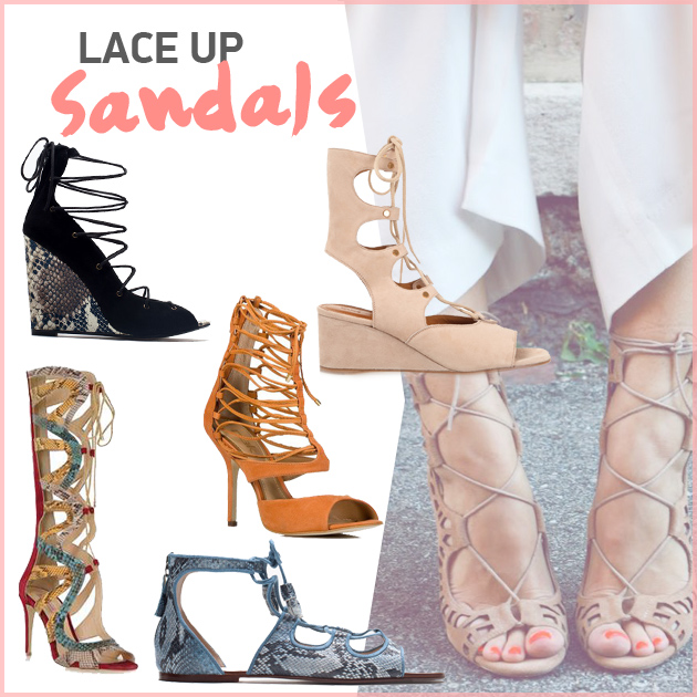 1662b0fc8fa Lace-up sandals - TLIFE