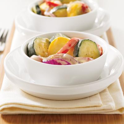 Ψητά λαχανικά με κρεμώδη σος λευκού κρασιού