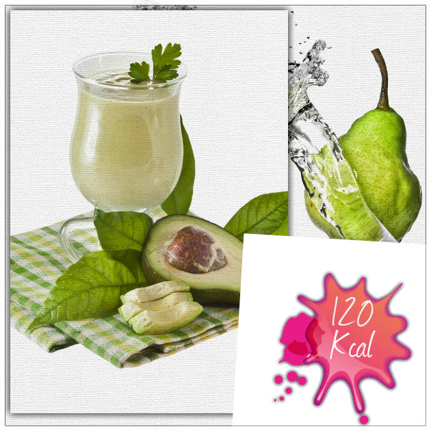 Detox Smoothie Μήλο/Αχλάδι/Αβοκάντο & Σπανάκι