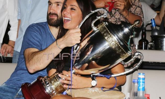 Βασίλης Σπανούλης: Γιόρτασε τη νίκη του Ολυμπιακού με την κουνιάδα του, Βαλέρια Χοψονίδου!