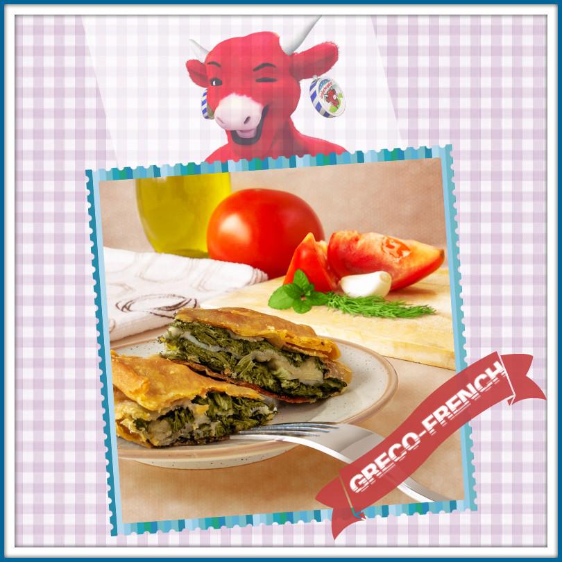 Σπανακόπιτα με La Vache Qui Rit® Light